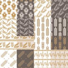 24 Autumn Backgrounds: Wheat Patterns
