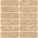 24 Seamless Gold Lace Patterns