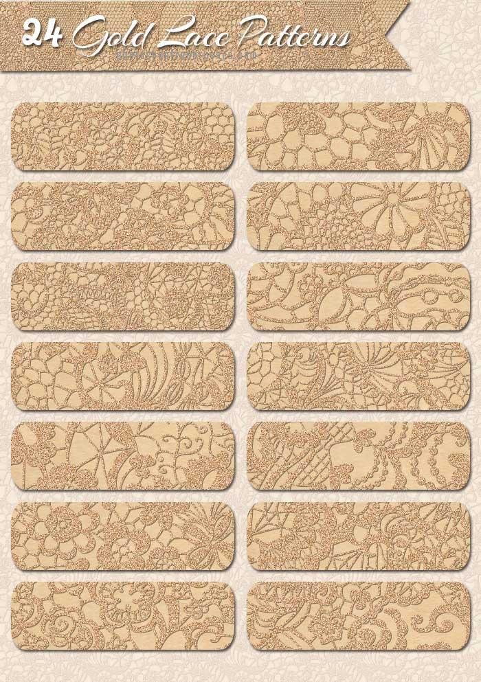 sparkle gold patterns