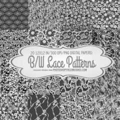 20 Luxurious Black and White Lace Patterns