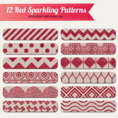 12 Free Red Sparkling Geometric Patterns