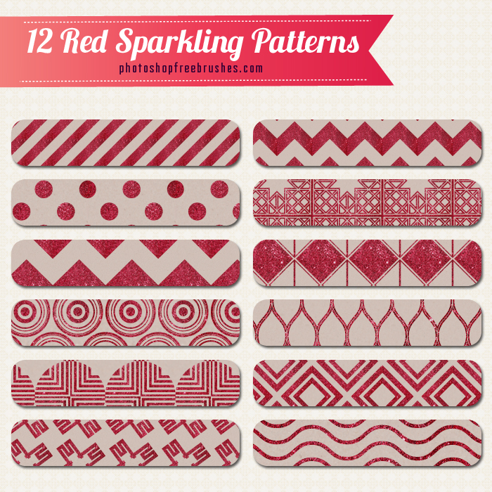 red glitter patterns