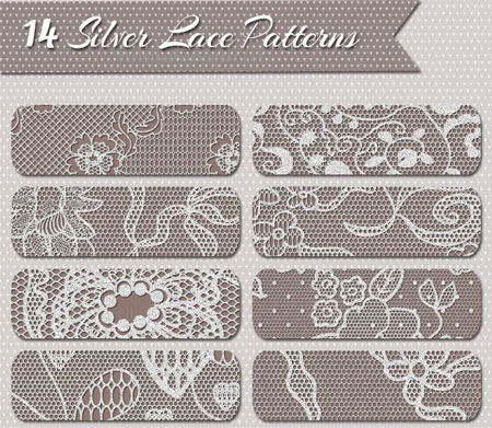 silver-lace-background