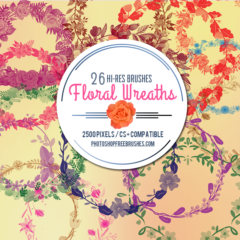 26 Free Floral Wreaths Photoshop Brushes