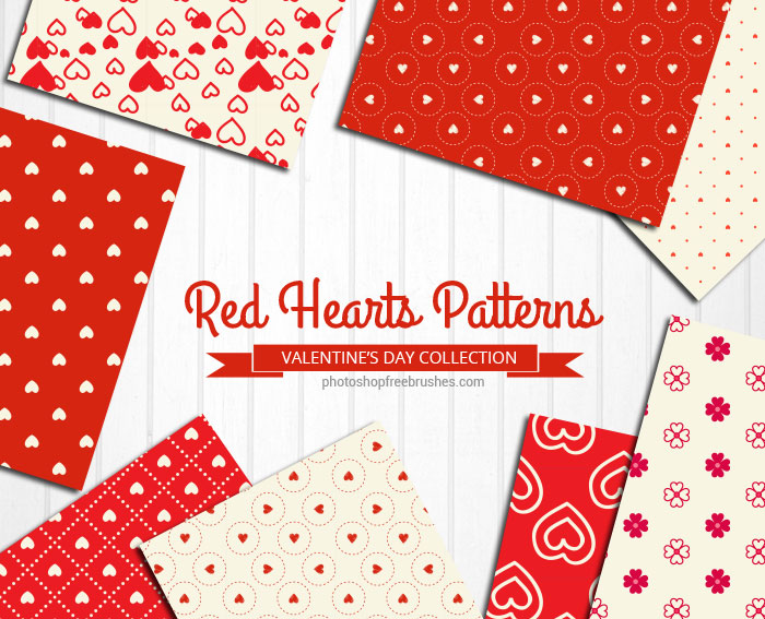 red hearts patterns