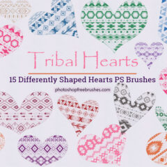 15 Tribal Hearts Photoshop Brushes and PNG Images