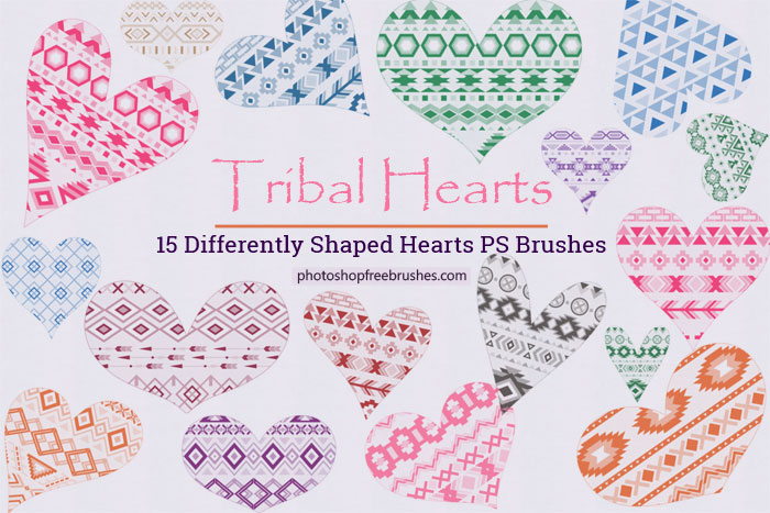 tribal hearts brushes