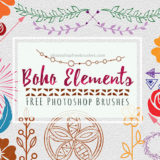 Boho Elements Brushes: 33 Gypsy-Style Graphics