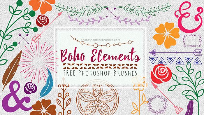 boho elements brushes