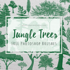 30 High-Quality Jungle Trees Photoshop Brushes