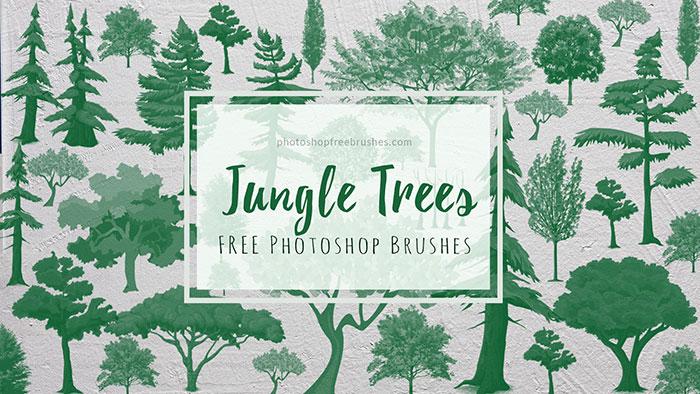 jungle trees photoshop brushes