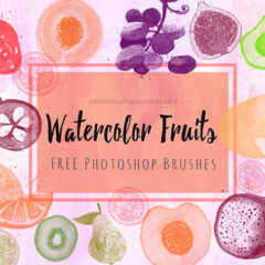 14 Free Watercolor Fruits Brushes for Photoshop