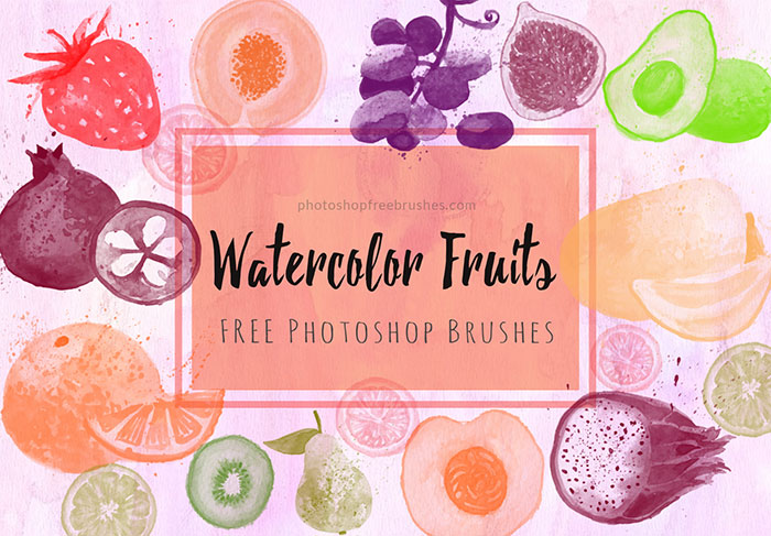 watercolor fruits brushes