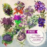 15 Free-to-Download Vintage Flower Bouquets Brushes