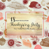 18 Free Thanksgiving Party Brushes to Download Free