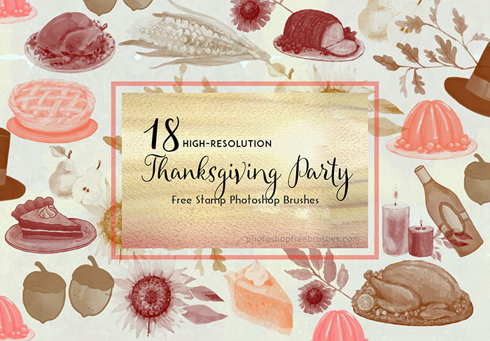 thanksgiving party brushes