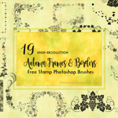 19 Autumn Frames Brushes to Decorate Your Photo Albums and Scrapbooks