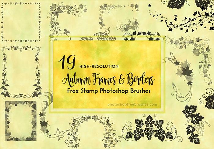 autumn frames brushes