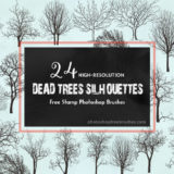 24 Spooky Trees Clip Art Brushes Great for Halloween Designs