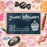 Halloween Candy Brushes Great for Making Trick and Treating Flyers