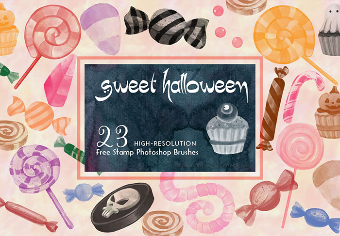 halloween candy brushes