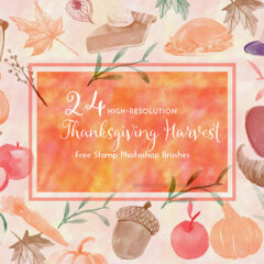 Thanksgiving Harvest: Fruits, Vegetable, Food PS Brushes