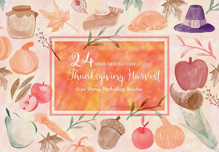 thanksgiving harvest brushes