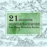21 High-Quality Mountain Brushes Great as Backgrounds