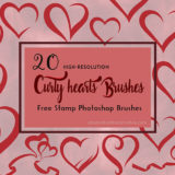 20 Free Curly Hearts Brushes for Valentine's Day
