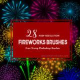 28 Free Fireworks Photoshop Brushes for New Year Celebrations