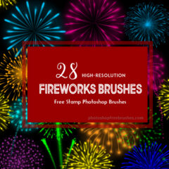 28 Free Fireworks Photoshop Brushes for New Year Celebrations