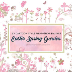 24 Easter Spring Garden Brushes to Download Free