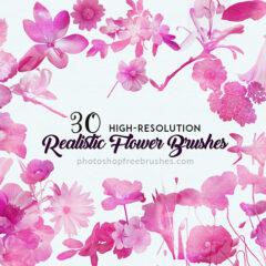 30 Realistic Flowers Brushes for Feminine Designs