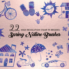 22 Spring Nature Brushes for Your Craft Projects