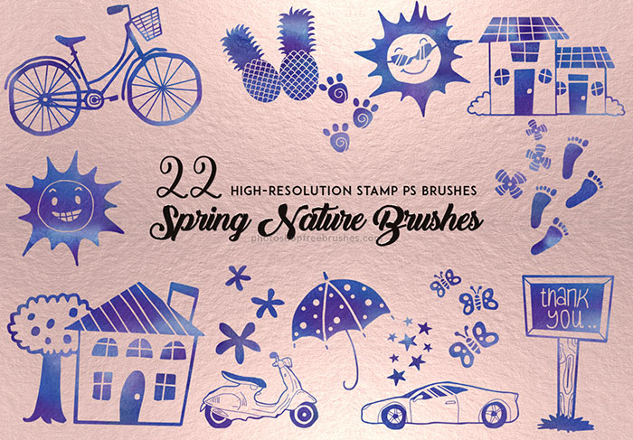 spring nature brushes