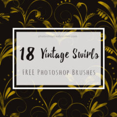 18 Vintage Swirls Brushes for Abstract Backgrounds