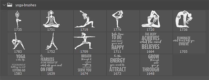 yoga poses brushes