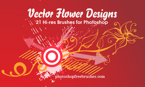 21 Vector Flower Designs as Photoshop Brushes | PHOTOSHOP FREE BRUSHES