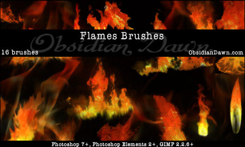 Fire and flame brushes download | qbrushes. Net.