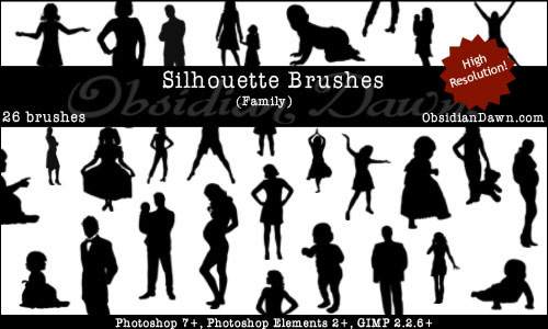 Ultimate Collection of Free People Photoshop Brushes