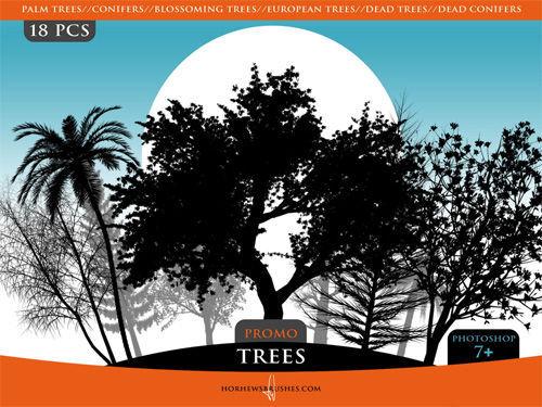 500 Very Useful Tree Photoshop Brushes Photoshop Free Brushes