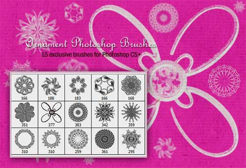25 Sets of Really Useful Ornament Photoshop Brushes