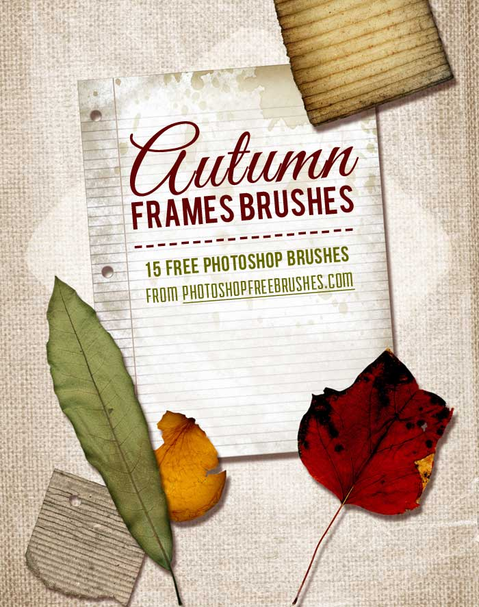 15 Frames PS Brushes for Fall | PHOTOSHOP FREE BRUSHES