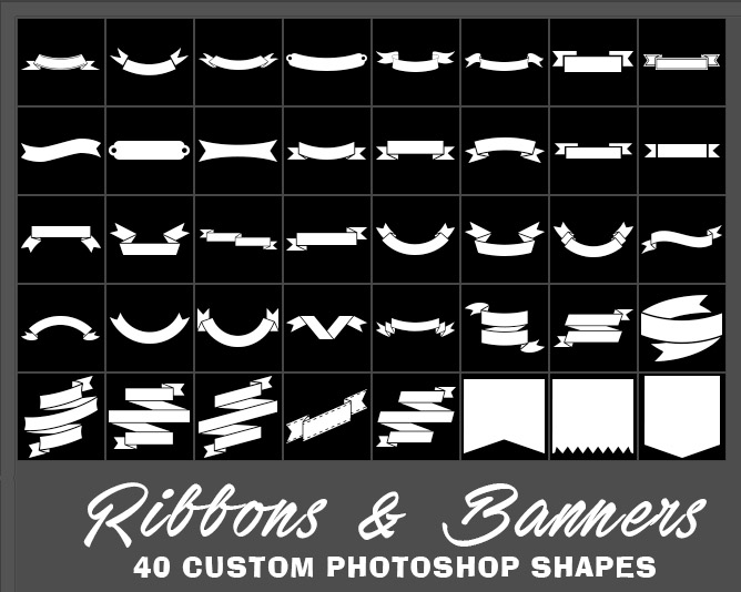 45+ Sources and Sets of Photoshop Custom Shapes
