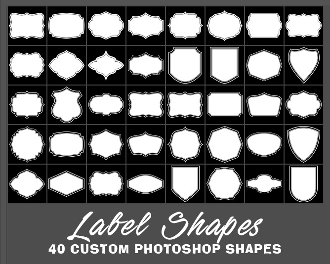 Photoshop Custom Shapes Free to Download